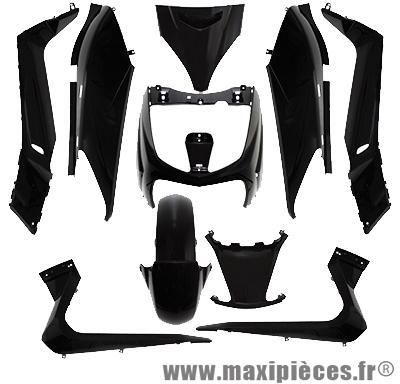 Kit carrosserie noir brillant pour yamaha x-max 125 mbk skycruiser de 06 à 09 (10 pièces)