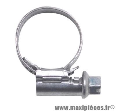 Collier metal pour durite de refroidissement eau Ø16 à 27, largeur 9mm (à l'unité)