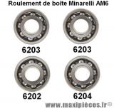 Kit roulement pour boîte de vitesse minarelli am6 50CC