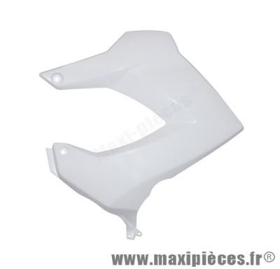 Cache latéral de réservoir gauche blanc pour 50 a boite derbi senda