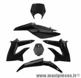 Kit carrosserie carénage noir pour 50 a boite derbi senda drd extrem 2010 à 2015