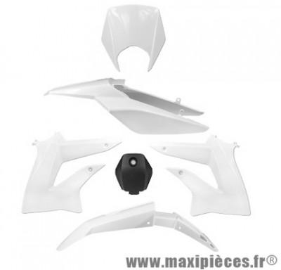Kit carrosserie carénage blanc pour 50 a boite derbi senda drd extrem 2010 à 2015