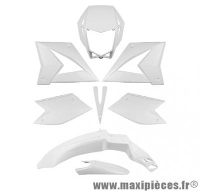 Kit carrosserie carénage blanc pour 50 a boite CPI SM/SX (8 pièces)