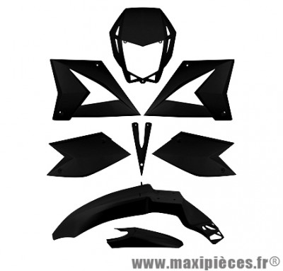Kit carrosserie carénage noir pour 50 a boite CPI SM/SX (8 pièces)