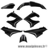 Kit carrosserie carénage noir pour 50 a boite Derbi Senda drd x-treme x-race 1994 à 2010 (7 pièces) *Prix spécial !