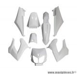 Kit carrosserie carénage blanc pour 50 a boite derbi senda drd x-treme x-race 1994 à 2010 (8 pièces)