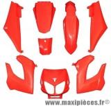 Kit carrosserie carénage rouge pour 50 a boite derbi senda drd x-treme x-race 1994 à 2010 (8 pièces)