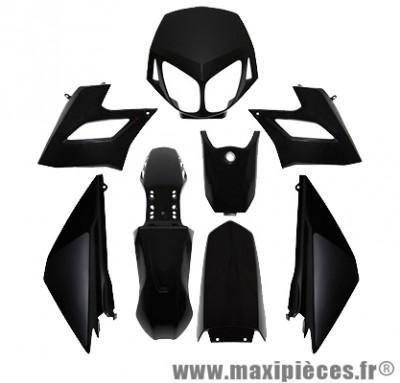 Kit carrosserie carénage noir pour 50 a boite derbi senda drd limited racing 2008 à 2011 (8 pièces)