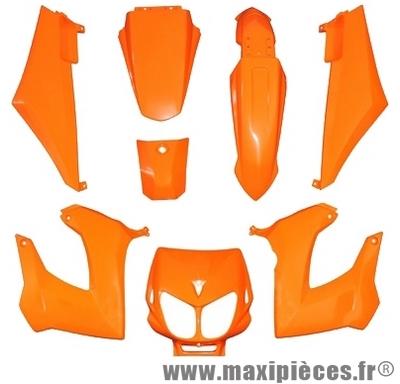 Kit carrosserie carénage orange pour 50 a boite derbi senda drd x-treme x-race 1994 à 2010 (8 pièces)