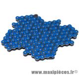 Chaine de moto Voca 420 renforcée 136 maillons couleur bleu