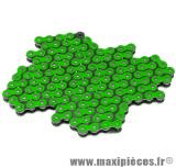 Chaine de moto Voca 420 renforcée 136 maillons couleur vert