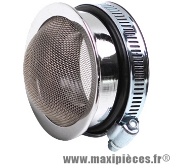 Filtre a air adaptable sha cornet chrome (Ø de 56-60mm)