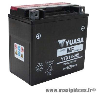 Prix spécial ! Batterie YTX14-BS 12v / 12ah Yuasa pour moto, quad, maxiscooter
