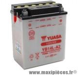Batterie YB14L-A2 12v / 14ah Yuasa pour moto