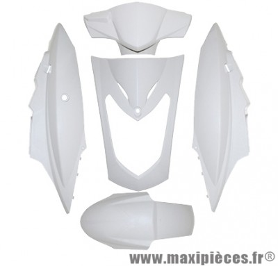 Kit carrosserie carénage blanc brillant pour kymco agility 50/125cc selle bi-place