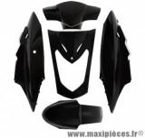Kit carrosserie carénage noir brillant pour kymco agility 50/125cc selle bi-place