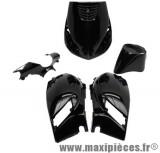 Prix Spécial ! Kit carrosserie carénage noir brillant pour piaggio zip 50cm³ (5 pièces)