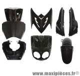 Prix spécial ! Kit carrosserie carénage noir pour mbk stunt yamaha slider (7 pièces)