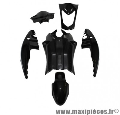 Kit carrosserie carénage noir brillant pour kymco agility 50 mono-selle