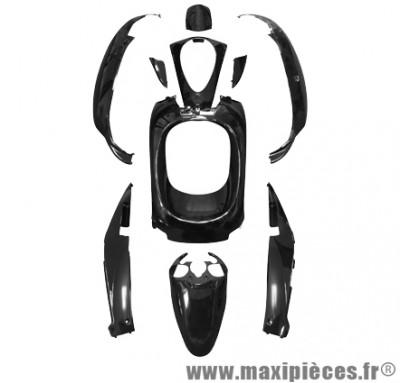 Kit carrosserie carénage noir brillant pour sym mio 50cc (KIT 10 PIÈCES)