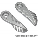 Repose pied MBK booster 2004 couleur argent