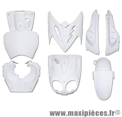 Kit carrosserie carénage blanc pour mbk stunt yamaha slider (7 pièces)