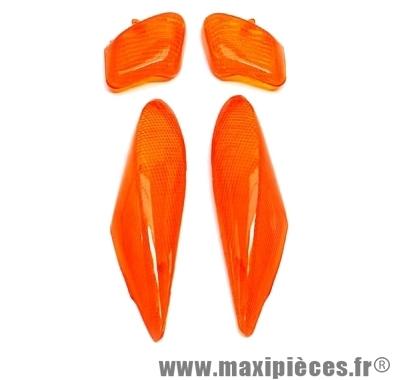 Cabochon de clignotant orange avant et arrière pour mbk yamaha booster bws ng de 95 à 98