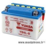 Batterie 12v / 4ah (yb4l-b)(vendu sans acide) pour tous les 50cc (dimension: lg120xl70xh92)