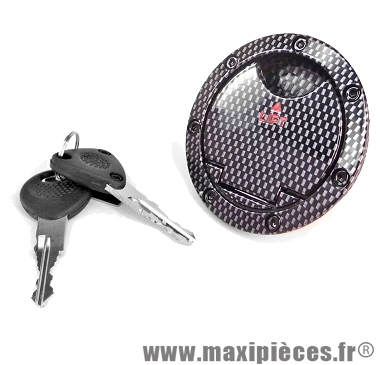 Bouchon essence antivol carbone brillant adaptable mbk yamaha aerox