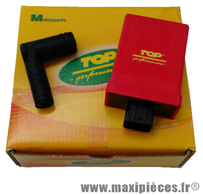 Bloc boitier cdi top performances racing avance variable pour scooter mbk booster 2004 stunt nitro ovetto yamaha bw's ng slider aerox jog neo's après 2002...
