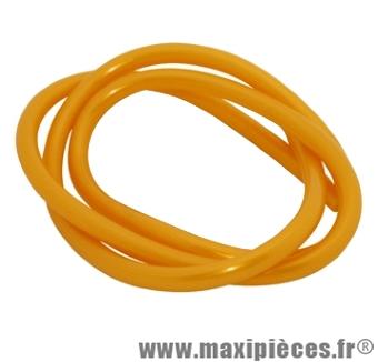 Déstockage ! Durite d'essence jaune foncé diametre extensible (interieur 4mm par 7,6mm exterieur/vendu par 1 metres)