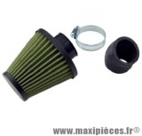 Filtre a air kn adaptable diametre28/35 filter green/vert