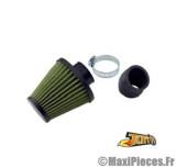filtre a air kn adaptable diametre28/35 filter green/vert