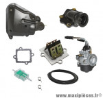 Pack carburation type origne pour mbk nitro, ovetto (>2003 starter manuel)
