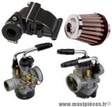 Pack carburation racing pour mbk booster spirit road bw's (Starter manuel)