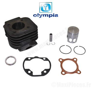 kit cylindre piston Olympia fonte pour mbk booster spirit, stunt ,rocket…