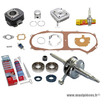 Pack kit moteur complet Polini pour mbk ovetto mach-g yamaha jog neos aprilia sr rally malaguti f10 f12 f15...