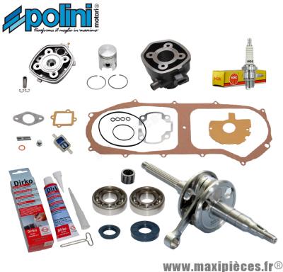 Pack kit moteur complet Polini pour mbk nitro, mach-g, aerox, jog, Aprilia rally...