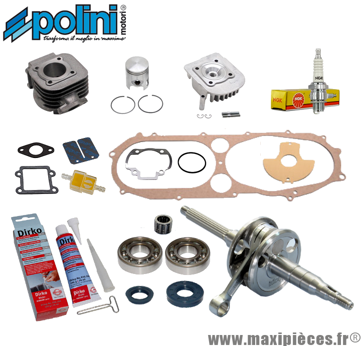 Kit pack moteur complet Polini pour Booster / Bws