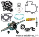Pack 50cc kit moteur complet type origine (haut moteur fonte, vilo renforcé, roulement, joint...)pour: peugeot jet force c-tech tsdi ludix blaster