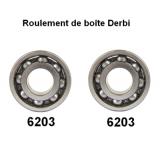 Kit roulement (x2) pour boîte de vitesse Derbi euro 2/3