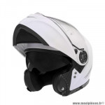Casque type integral modulable marque Nox n965 blanc perle taille xl