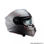 Casque type integral modulable marque Nox n960 shake noir mat / rouge taille s