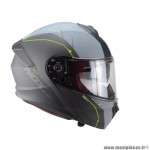 Casque type integral modulable marque Nox n960 shake gris nardo / jaune fluo taille l
