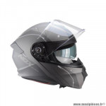 Casque type integral modulable marque Nox n960 shake noir mat / titanium taille s