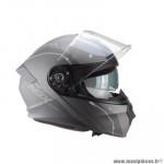Casque type integral modulable marque Nox n960 shake noir mat / titanium taille xl