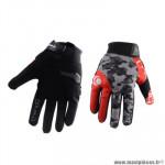 Gants moto trendy ete gt625 - goias camo gris / rouge taille XS
