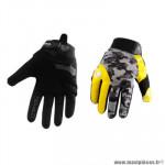 Gants moto trendy ete gt625 - goias camo gris / jaune fluo taille S