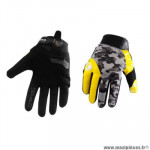 Gants moto trendy ete gt625 - goias camo gris / jaune fluo taille m