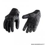 Gants moto trendy ete gt525 - acre cuir noir / marron taille L